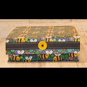 Handmade MEDIUM Bee Jewelry/Trinket Box